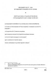 Couverture réglement européen